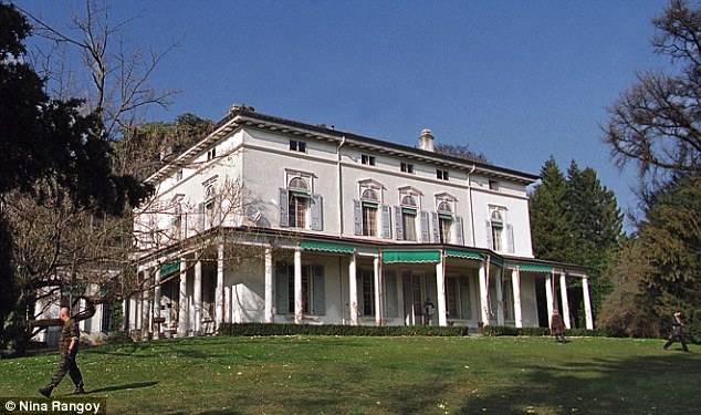 Mansão onde viveu a família Chaplin, em Vevey, Suíça.