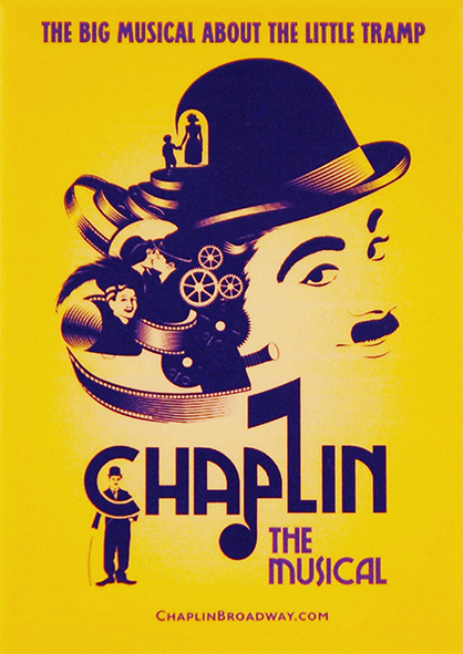 """Cartaz do Musical """"Chaplin"""""""