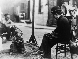 """THE KID"" First National, 1921, Charles Chaplin, Jackie Coogan"