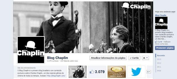 Exemplo de como ficará a sua capa no perfil do Facebook.