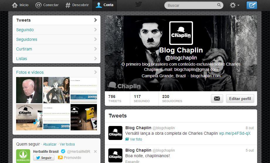 Exemplo de como ficará a sua capa no perfil do Twitter.