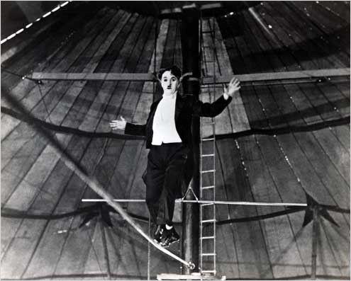 """Chaplin, em """"O Circo"""" (1928)."""