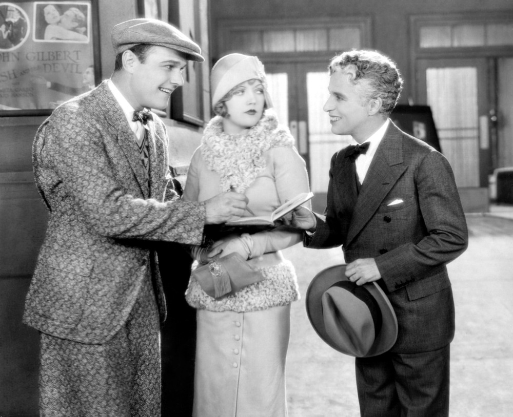"William Haines, Marion Davies e Chaplin em ""Show People"" (1928)"
