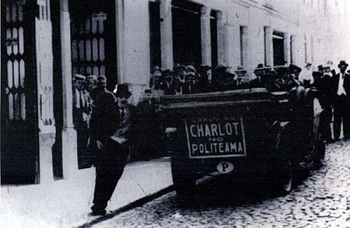Cardo as Charlot no Politeama, 1916