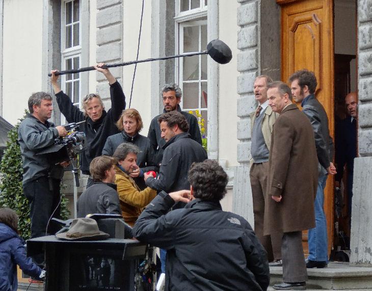 Durante as filmagens do longa, na Suíça. Foto: Vevey Ville d'images