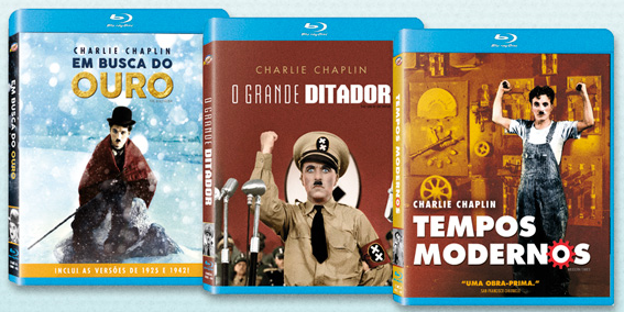 O box é composto por 3 clássicos de Chaplin