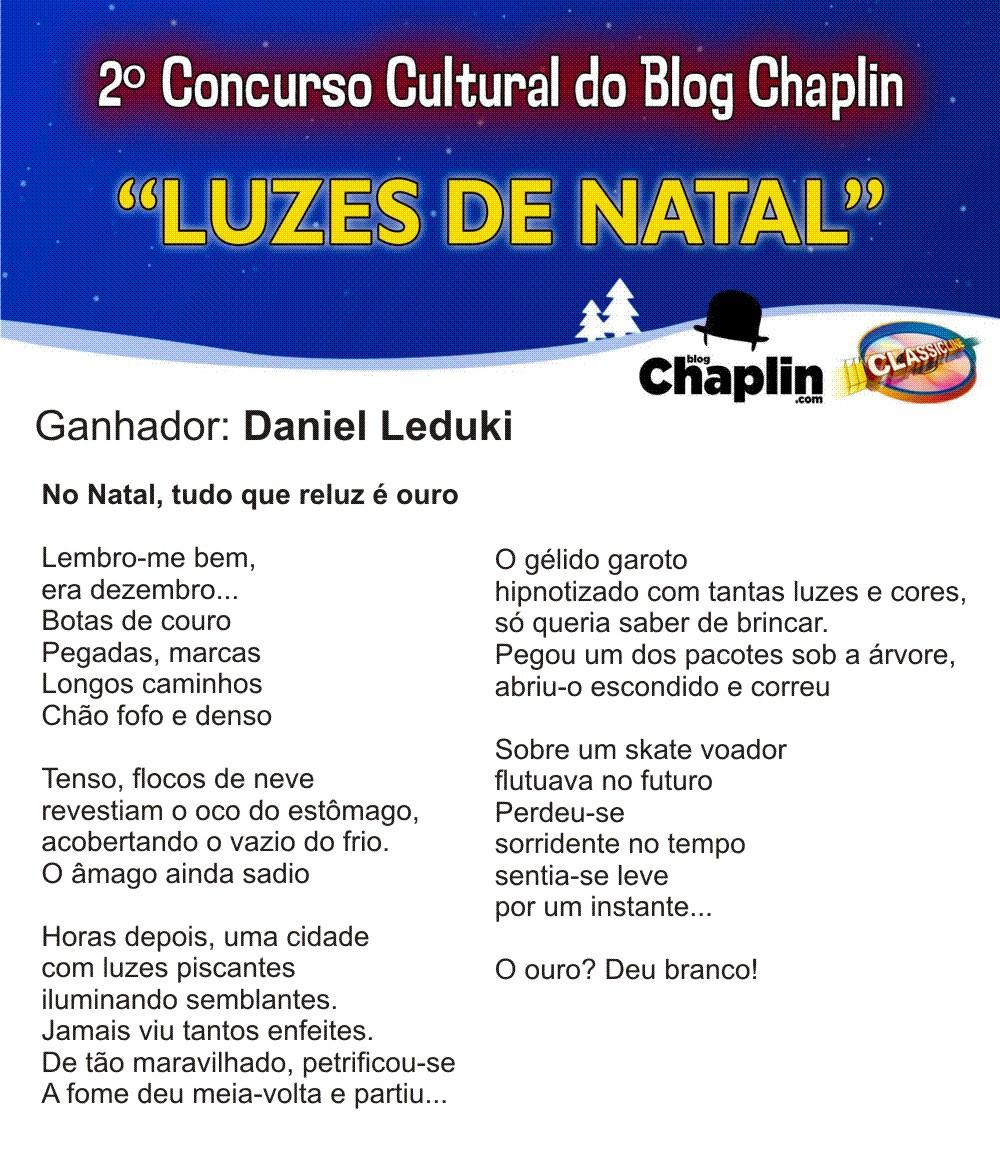 CONCURSO NATAL GANHADOR